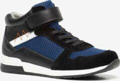 TwoDay leren jongens sneakers - Zwart - Maat 30