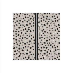 Zwarte Bastion Collections - Servetten S - Titane happy you - dots
