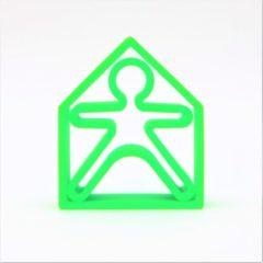 Dëna bijtring - 1 kind + 1 huis - neon groen