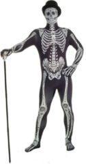 Zwarte Morphsuits™ Morphsuit day of the dead - SecondSkin - Verkleedkleding - 164/176 cm