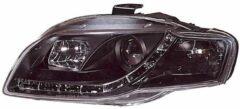 Universeel Set Koplampen incl. DRL Audi A4 B7 2005-2008 - Zwart