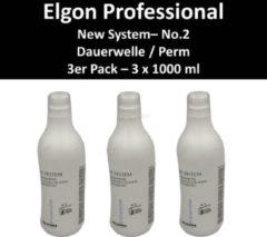 Elgon - New System no. 2 Perm voor behandeld haar - Multipack 3x1000ml