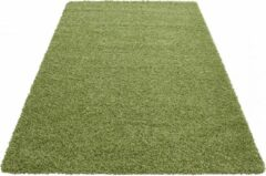 Himalaya Basic Shaggy vloerkleed Groen Hoogpolig- 60x110 CM