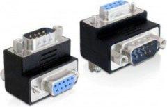 Zwarte DeLOCK 65266 Sub-D 9 pin Sub-D 9 pin Zwart kabeladapter/verloopstukje