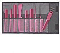 Roze Jaguar - A-Line - Kammenset Incl. Etui - 9-Delig - Metallic Pink