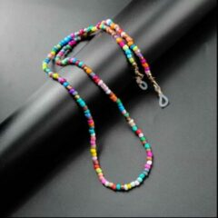 Youhomy accessoires Brillenkoord dames kraaltjes- Zonnebril koord gekleurde kraaltje- mondkapje ketting- masker koord