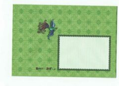 Merkloos / Sans marque Luxe Gekleurde Enveloppen - 200 stuks - Groen / vogel - C6+ 175X120 mm - 100grms - 2 X 100 enveloppen