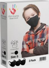 SafetyFirst Kids Safety Mask Wasbaar Gezichtsmasker | Zwart | 3 Pack | Voordeelverpakking
