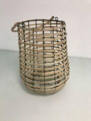 Bruine Merkloos CE Waxinelicht houder van hout voor een licht of kaars