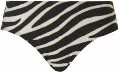 Tc wow hipster bikinibroekje met zebraprint zwart wit