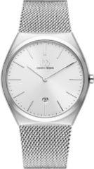 Zilveren Danish Design watches edelstalen herenhorloge Tåsinge Silver Large Mesh IQ62Q1236