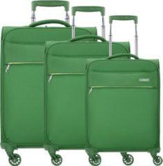 Travel Line 6304 4-Rollen Kofferset 3tlg. D&N grün