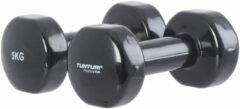 Tunturi vinyl dumbbells set 5.0 kg -zwart