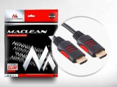 Zwarte Maclean energy Kabel HDMI-HDMI v1.4 30AWG-kabel Maclean MCTV-814 5m