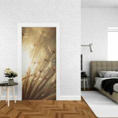 Beige Wallstation Deursticker Bloemen 18 - 100 x 250 cm - Gratis installatie-kit - Snelle levering