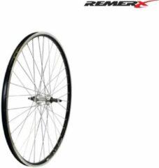 """Remerx dubbelwandig zwart achterwiel 622-19 (28"""") 36 spaak"""