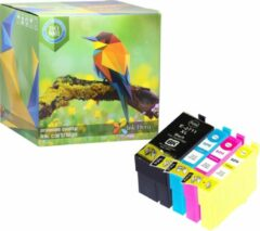 Cyane Ink Hero - 4 Pack - Inktcartridge / Alternatief voor de Epson 27XL T2711 T2712 T2713 T2714 WorkForce WF-3620DWF, WF-3640DTWF, WF-7110DTW, WF-7610DWF, WF-7620DTWF, WF-7620DWF, WF-7620TWF