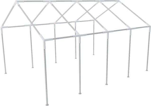 Afbeelding van Zilveren VidaXL - Partytent Stalen frame voor partytenten 8 x 4 m