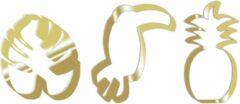 Gouden Scrapcooking - Koekjesuitsteker - Tropical - Set/3