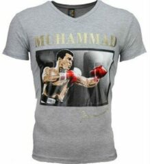 Grijze T-shirt Korte Mouw Mascherano T-shirt - Muhammad Ali Glossy Print