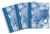 Blauwe Work Collegeblok formaat A5 17-gaats gelijnd 160 bladzijden - 1 stuk