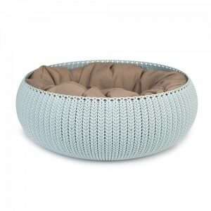 Afbeelding van Curver Cozy Pet Bed Kattenmand - Ø 50 cm - Lichtblauw
