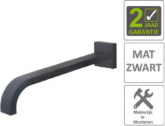 "Boss & Wessing BWS Inbouwuitloop Vierkant 31cm 1/2"" Mat Zwart"