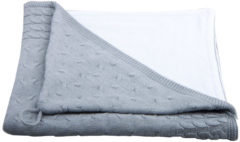 Baby'S Only Badcape - Omslagdoek Baby'S Only - Kabel Chenille Lichtgrijs