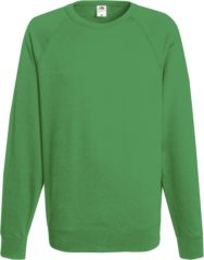 Groene Fruit of the Loom Sweater Raglan Sweat Ronde Hals Kelly groen maat XXL