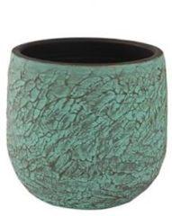 Groene Ter Steege Pot evi antiq bronze bloempot binnen 28 cm