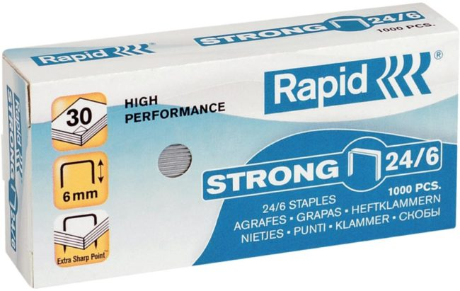 Afbeelding van Rapid Staples Rapid Strong 24/6 Galvanized Box of 1000 (24855800)