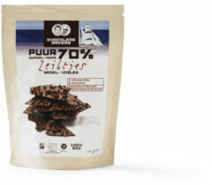 Chocolatemakers Bio Chocozeiltjes Puur 70% Met Zeezout En Nibs (100g)