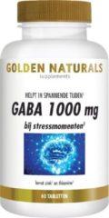 Golden Naturals GABA 1000 mg (60 veganistische tabletten)