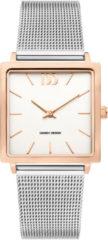 Roze Danish Design watches edelstalen dameshorloge Miami Two-Tone Rosegold Mesh IV67Q1248