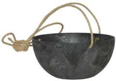 Plantenwinkel.nl Artstone fiona hanging basket zwart M