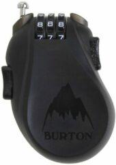 Zwarte Burton Cable Lock Unisex Snowboardslot - Translucent Black