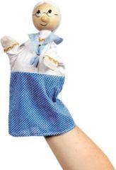 Blauwe Goki Poppenkastpop Grootmoeder