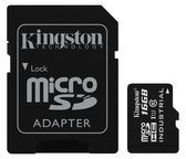 Kingston Technology GmbH Kingston Flash-Speicherkarte ( microSDHC/SD-Adapter inbegriffen ) - 16 GB SDCIT/16GB