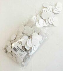 Witte Hartberger Hobby rondjes assortiment mix – 250 gram - DIY hobby knutsel karton rondjes - ook geschikt als labels kraftpapier