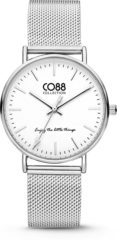 CO88 Collection Watches 8CW 10002 Horloge - Mesh Band - Ø 36 mm - Zilverkleurig