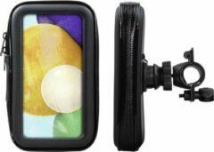 Shop4 - Samsung Galaxy A52 Fietshouder Stuur Spatwaterdicht Zwart