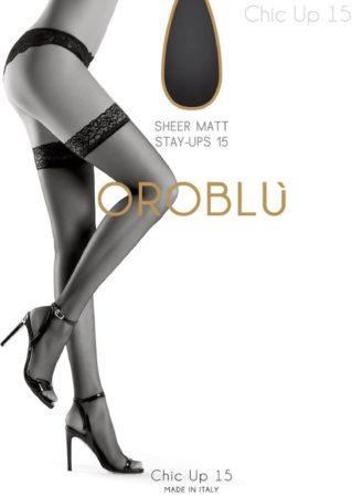 Afbeelding van Vrouwen Oroblu - Bas Chic Up Panty, 15 denier lycra, kleur Suntouch (bruin/beige) - XL