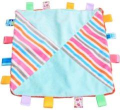 Blauwe Woezy - Labeldoek Bobbie - Knuffeldoekje - Kraamcadeau - Baby - Jongen - Meisje