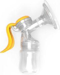Oranje Vican Borstkolf – Handkolf – Handmatig te bedienen – Ergonomisch design – Vermijd pijnlijke polsen na het kolven – 150 ML opvangflesje – Met extra speen