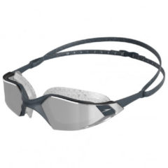 Grijze Speedo Aquapulse Pro Mirror Goggles, oxid grey/silver/chrome