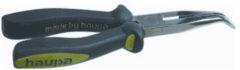 Grijze Haupa HAUP tel tang Black line, le 200mm, gebogen, afwerking verchr
