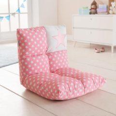 Howa 2 in 1 Kinderfauteuil + Kinderlounger - 6-voudig verstelbare rugleuning roze / wit 8601