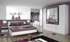 Rauch Schlafzimmer Burano, 4-teilig weiß/grau-metallic