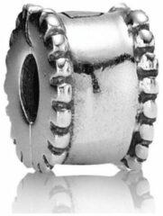 Pandora - Bedel - Moments - Glad met Bolletjes Rand - Zilveren bedel