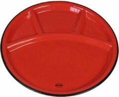 Cabanaz - bord, keramiek, FONDUE PLATE, rood